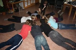 Foto von Gruppe bei Kooperationsspiel