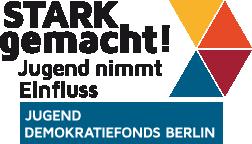 Logo stark gemacht Jugend Demokratiefonds Berlin